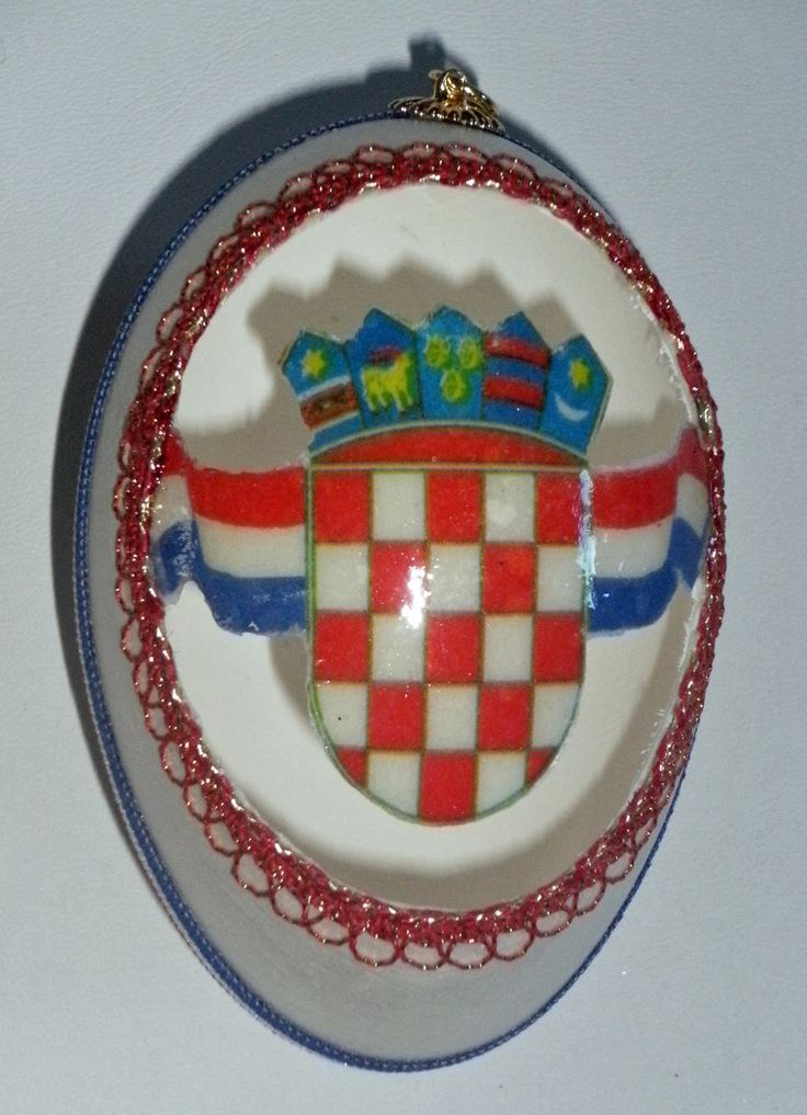 Faberge Inspired Croatian Easter Egg One Of A Kind Grb Croatian Crest New Easter Eggs Faberge Croatian
