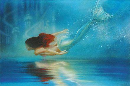 The Littler Mermaid - Underwater Princess - Ariel - John Rowe - World-Wide-Art.com - $495.00 #Disney #JohnRowe