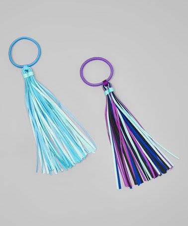 Loving this Blue & Purple Hair Tie - Set of Two on #zulily! #zulilyfinds