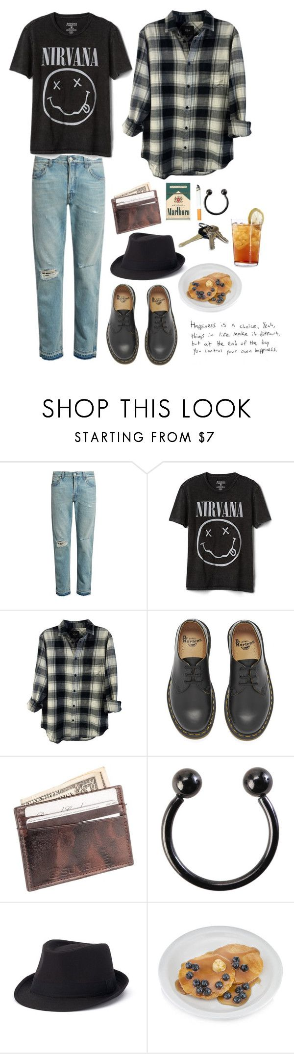 """""""Untitled #311"""" by blvckcreature ❤ liked on Polyvore featuring Gucci, Gap, Rails, Dr. Martens, Suvelle, Hot Topic, Urban Pipeline, Schott Zwiesel, men's fashion and menswear"""