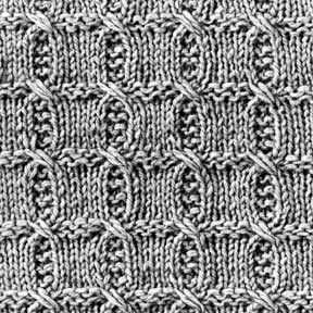 Knitting Pattern Square No. 35, Volume 34 | Purple Kitty