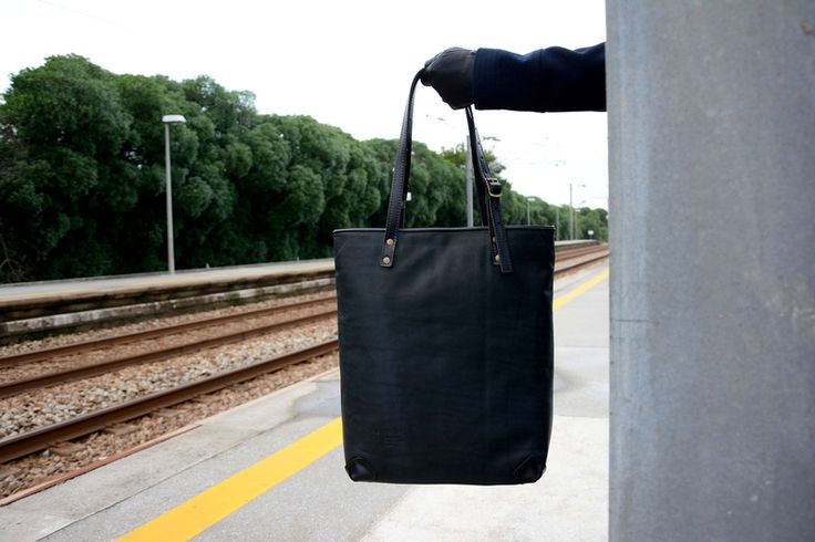 """Pickpocket Bags - Tote Bag, """"Allium"""" Model -  Black Genuine Leather Bag from PickpocketBags by Pickpocket"""