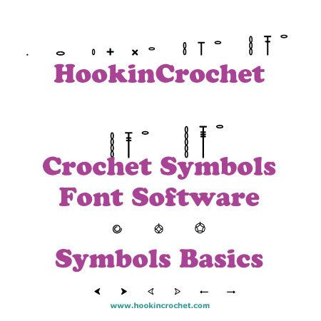 HookinCrochet Symbols Basics Font Software by HookinCrochet on Etsy