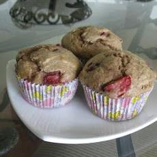 Mimi's Giant Whole-Wheat Banana-Strawberry Muffins Recipe