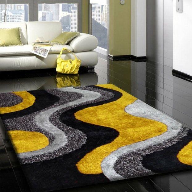 redoutable tapis noir et jaune grey