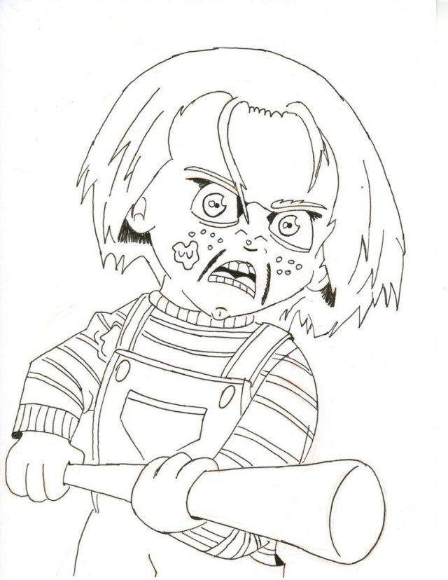 Chucky Coloring Pages : chucky, coloring, pages, Creative, Photo, Chucky, Coloring, Pages, Albanysinsanity.com, Halloween, Book,, Books,