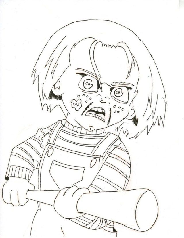 Creative Photo Of Chucky Coloring Pages Halloween Coloring Pages