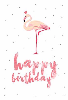 Flamingo birthday - Free Printable Birthday Card | Greetings Island