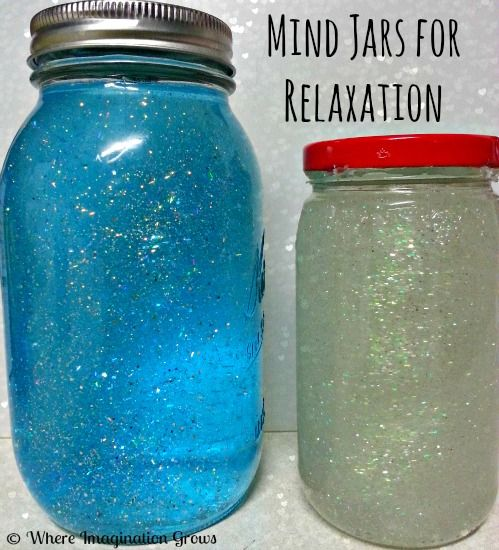 Easy DIY relaxation mind jars for kids. A simple activity that is a great meditation tool and sensory experience for kids.