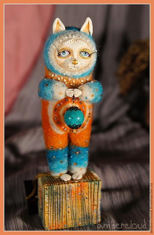 Котя с Бирюзинкой. Серия Хранители секретов. doll, dollart, hand made, ©ambercloud, авторская кукла Dolls and handmade toys.  Fair Masters - handmade with Kitty Biryuzinkoy.  Handmade.