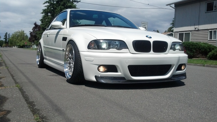 E46 M3 CF 1 piece lip for M3 Bumper.  http://www.statusgruppe.com/collections/2001-06-bmw-e46-m3/products/bmw-e46-m3-csl-style-carbon-fiber-front-lip-spoiler
