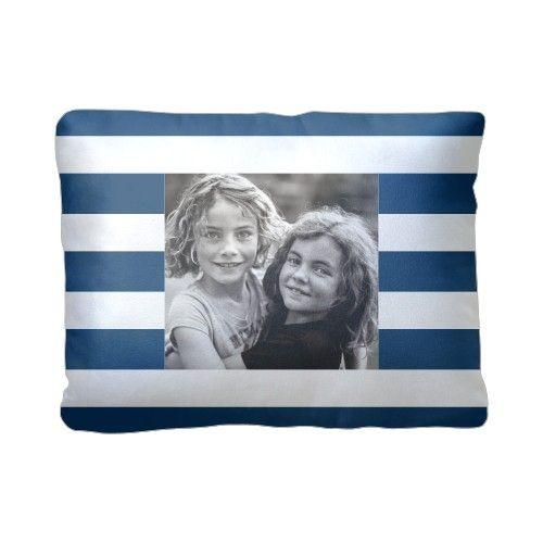 Bold Stripes Pillow, Sherpa, Pillow (Sherpa), 12 x 16, Single-sided, Blue