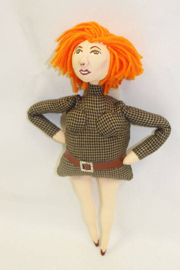 Molly * Handpainted Cloth Doll
