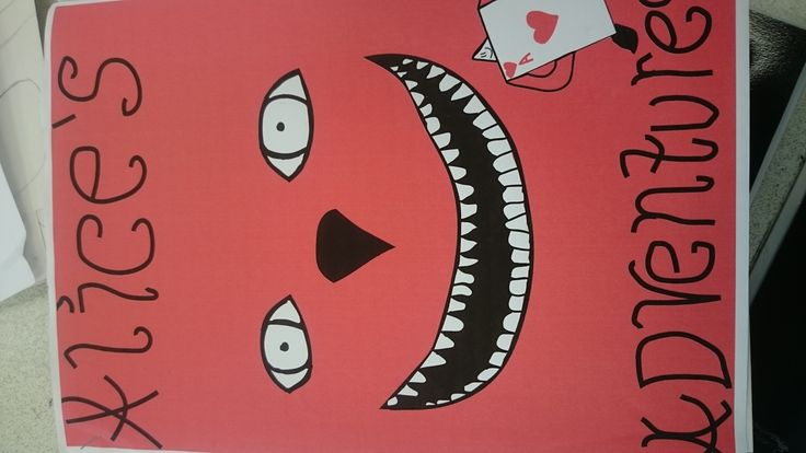This Is My Final Design For The Alice And Wonderland Project During I Liked