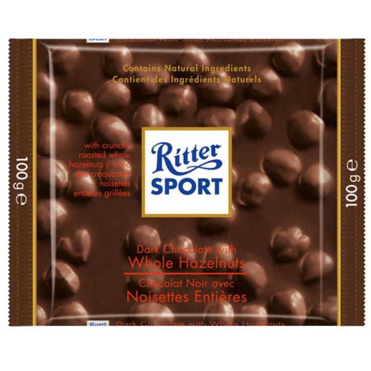 Ritter Sport Dark Whole Hazelnut Chocolate Bar MEC
