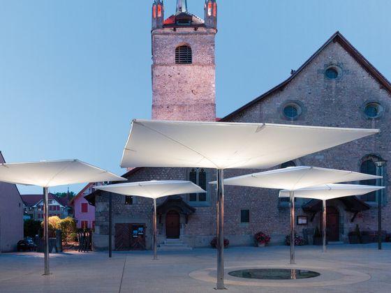 Type AV Double membrane umbrella by MDT-tex   Textile buildings