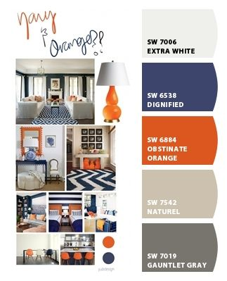 Perfect Color Palette For His Big Boy Room Chip It By Sherwin Williams ChipCard Amy S Love The Blue And Orange To Accent Boys Bathroom