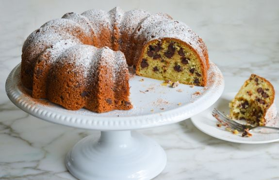 Sour Cream Chocolate Chip Coffee Cake - Once Upon a Chef