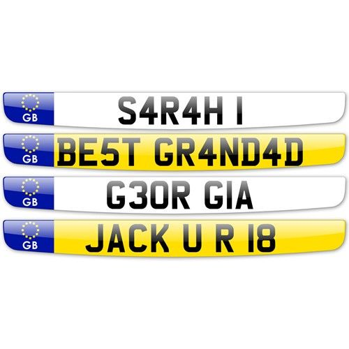 Personalised Number Plate  from Personalised Gifts Shop - ONLY £9.99