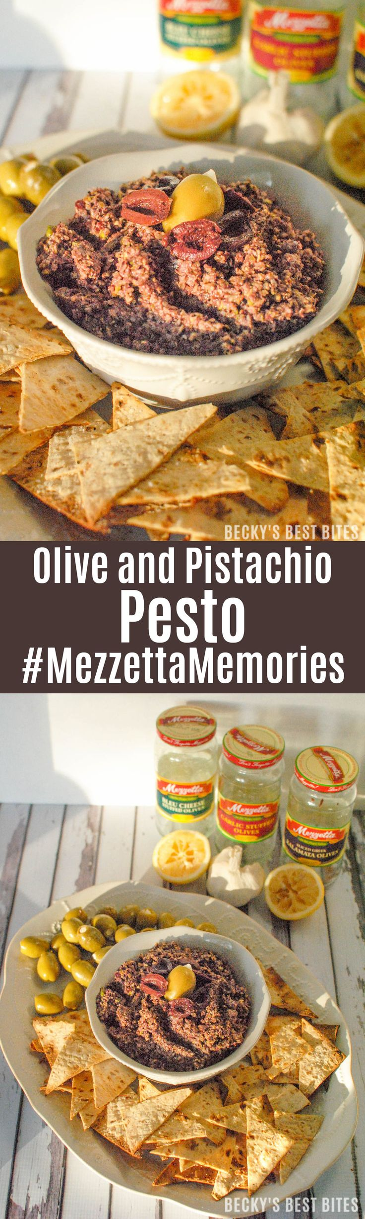 Mezzetta Olive and Pistachio Pesto is a holiday recipe that the whole family can enjoy! Win a holiday memories sharing pack. Easy Giveaway ~> https://ooh.li/589f409 #MezzettaMemories #ad | beckysbestbites.com