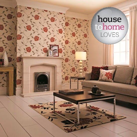 Living room wallpaper – Wallpaper for living room – Grey wallpaper | Decorating | Pinterest ...