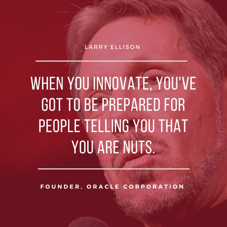 #WednesdayWisdom from Oracle Corporation founder Larry Ellison