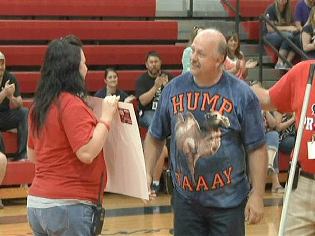 Students surprise school janitor with money to visit newborn grandson in Italy