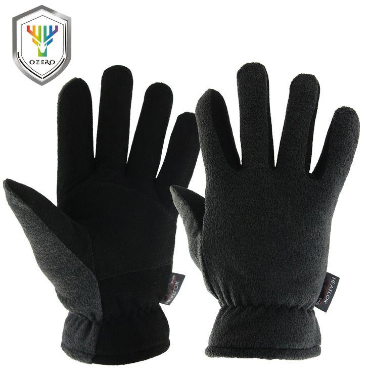 OZERO Men's Work Driver Gloves Deerskin Winter Warm Windproof Security Protection Wear Safety Working For Men Woman Gloves 9009