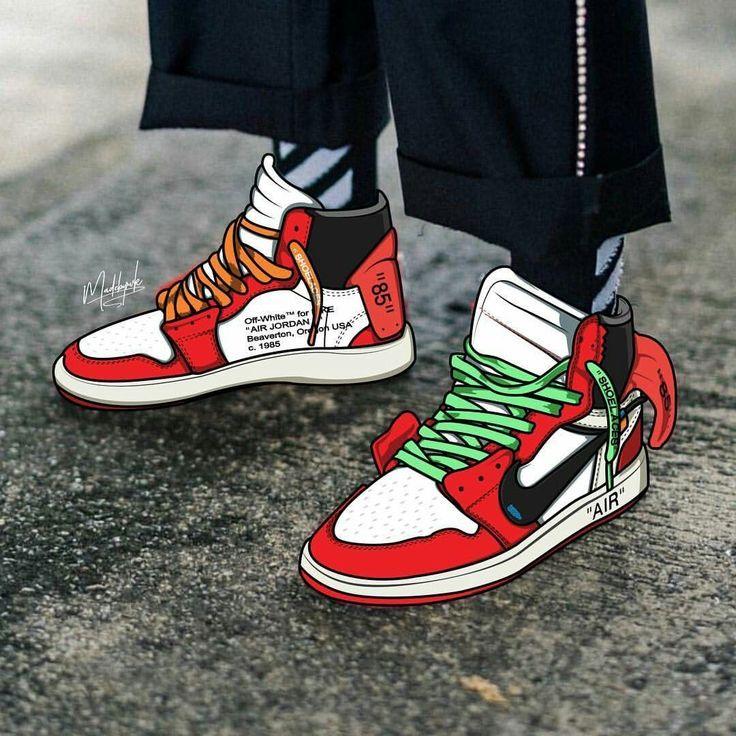 Nike Air Jordans Poster Sneakers En 2020 Chaussure Mode Chaussures Peintes Fond Decran Nike