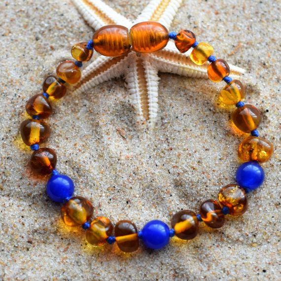 Genuine Baltic Amber. Baby Teething Bracelet. by BalticAmberCity