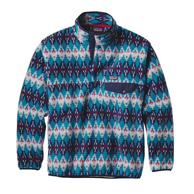 Patagonia Men's Synchilla Snap-T Fleece Pullover- Forest Carpet Deep Sea Blue