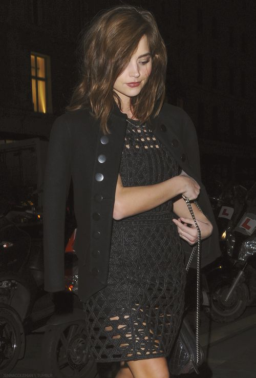 Jenna arrives at the Weinstein & Grey Goose pre-BAFTAs Dinner - 12th February 2016
