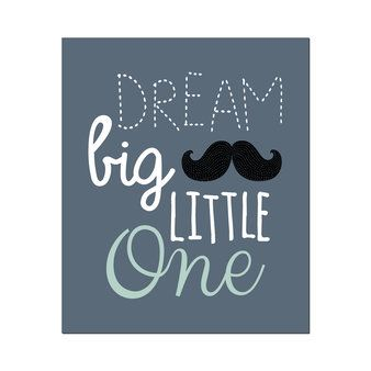 Poster Dream Big-Steel grey - Wanddecoratie