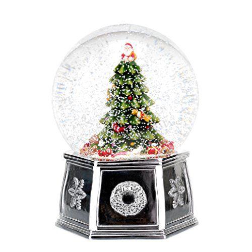Spode Christmas Tree Annual Edition Musical Tree Snow Globe, Large