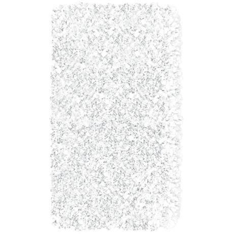 Raganoodle White Shag Area Rug | LampsPlus.com