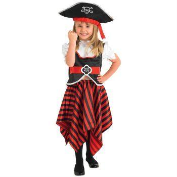 Korsan Kız Çocuk Kostüm 5-6 Yaş