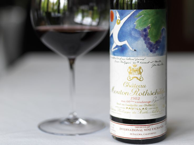 Chateau Mouton Rothschild 1982... Marc Chagall was commissioned to paint the label.  This is the epitome of luxury.  It really doesn't get better than this!