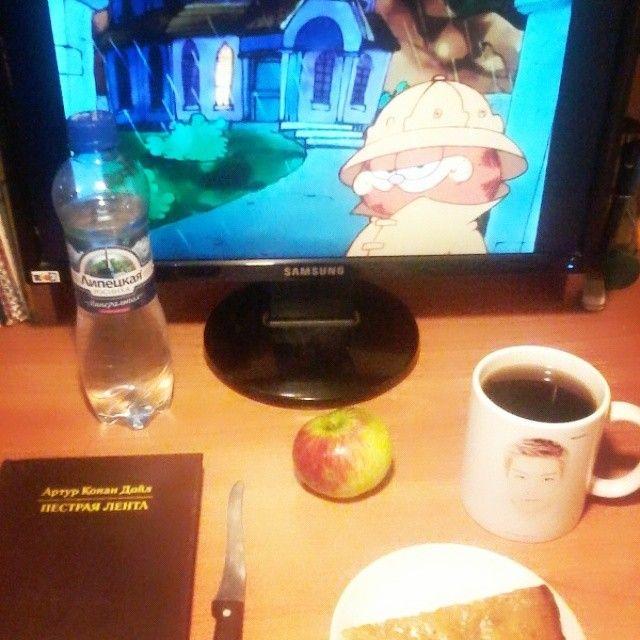#garfield #cat #sherlockholmes #sherlock #doyle #apple #pie #applepie #coffee #가필드 #고양이 #셜록홈즈 #셜록 #도일 #사과 #파이 #사과파이 #커피 Goodnight