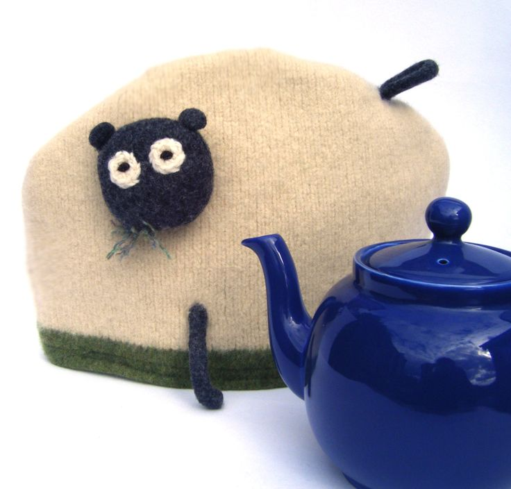Pure Wool Sheep Tea Cosy, Made in Scotland by mybaboo on Etsy