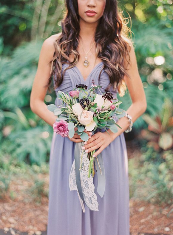 lilac bridesmaids dress | Blackberry Woods Shoot by Michelle March