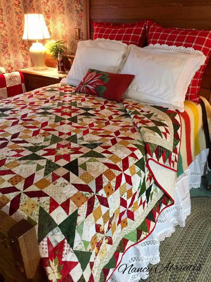 Carolina Christmas quilt Bonnie's beautiful pattern in Scraps and Shirttails II