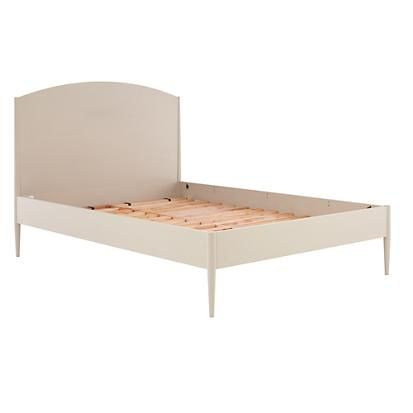 Neutral Hampshire Arched Headboard Bed (Stone)   The Land of Nod - option for Lucy's room (comes with trundle)
