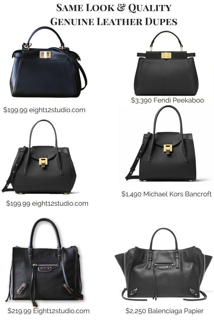 ff56f7f39801 Designer handbag dupes - same quality leather