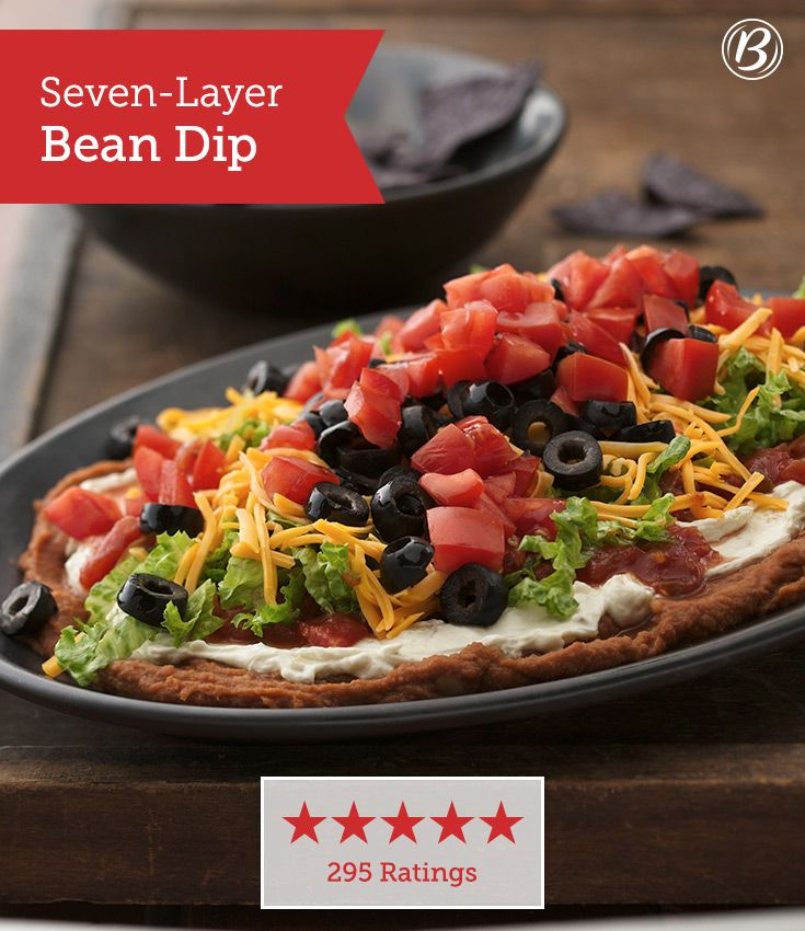 Seven-Layer Bean Dip | Recipe | Seven Layer Bean Dip, Bean Dip and ...