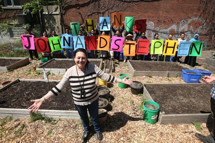 Activist's generosity blooms in Parkdale garden: Porter  Activist filmmaker John Greyson donates land to Parkdale Land Trust for community garden.