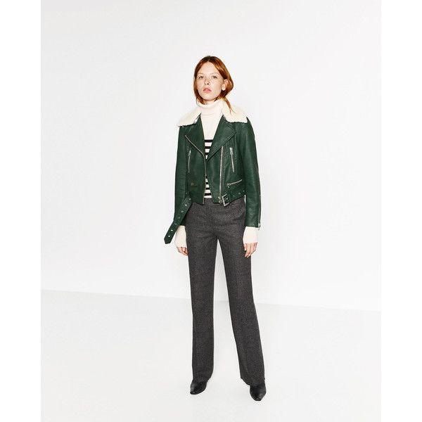 GEACĂ EFECT PIELE - Vizualizare totală-PALTOANE ȘI GECI-FEMEI | ZARA... (995 ARS) ❤ liked on Polyvore featuring outerwear, jackets, white jacket and piel leather