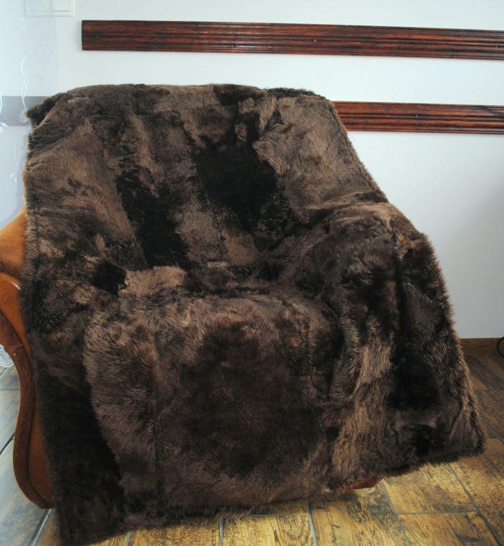 Pelzdecke Schafe , Felldecke, Tagesdecke,Pelz Decke Fell, Blanket Fur  /bedspread Throw