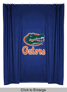 Florida Gators Shower Curtain | Florida Gators Bathroom Shower Curtain