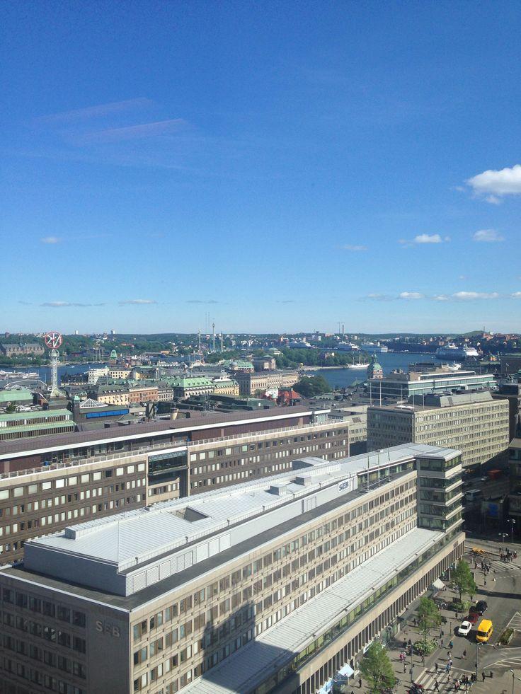 Utsikt från konferenslokalen i Hötorgsskrapan.