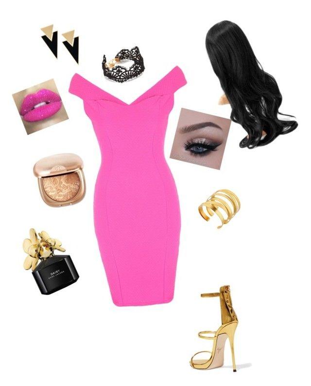 """Swan"" by jangiraldo on Polyvore featuring moda, Jane Norman, Giuseppe Zanotti, Yves Saint Laurent, Hervé Van Der Straeten, Glitter Pink y Marc Jacobs"